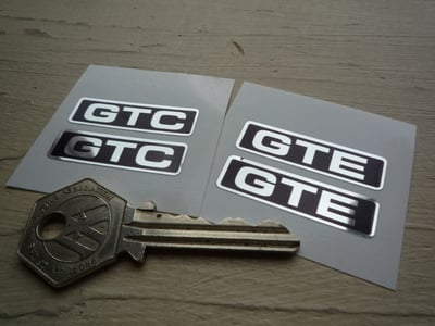 "Reliant GTC or GTE Interior Stickers. 1.5"" Pair."
