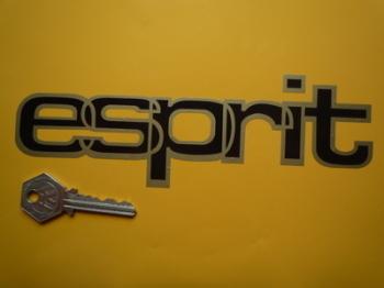 "Lotus Esprit Black Middle Gold Outline Style Cut Text Sticker. 7.5""."