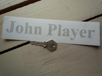 """John Player Cut Text Sticker. 8"""" or 10""""."""