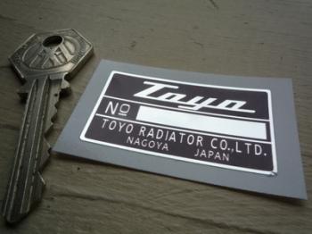 "Honda S800 Toyo Radiator Sticker. 1.75""."