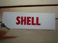 "Shell Red & White Petrol Pump Window Static Cling Sticker. 12.5""."