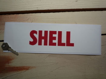 """Shell Red & White Petrol Pump Window Static Cling Sticker. 12.5""""."""