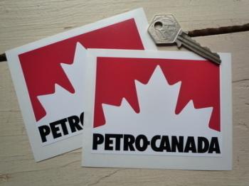 """Petro-Canada Gas Stickers. 4"""" Pair."""