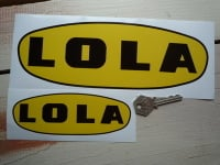 "Lola Traditional Style Oval Stickers. 6"" or 10"" Pair."