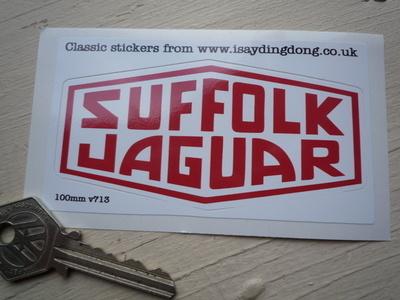 Suffolk Jaguar Red & White  Lozenge Sticker. 4