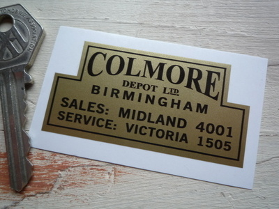 "Colmore Depot Birmingham Car & Motorcycle Dealers Sticker. 2.5""."