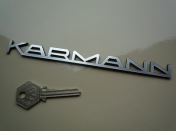 "Karmann Text Laser Cut Self Adhesive Car Badge. 5"" or 7""."