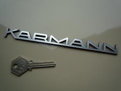 Karmann Text Laser Cut Self Adhesive Car Badge. 175mm.