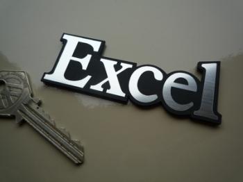 """Lotus Excel Text Laser Cut Self Adhesive Car Badge. 3""""."""
