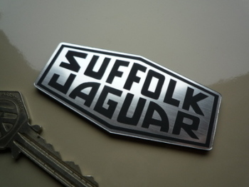 "Suffolk Jaguar Logo Laser Cut Self Adhesive Car Badge. 3""."