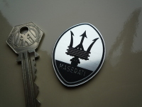 "Maserati Shield Laser Cut Self Adhesive Car Badge. 1.75""."