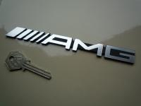 "Mercedes AMG Laser Cut Self Adhesive Car Badge. 6.5""."