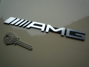 "Mercedes AMG Laser Cut Self Adhesive Car Badge. 6.5""."