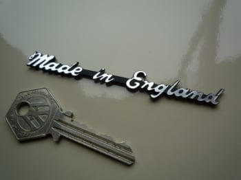 "Made in England Script Style Laser Cut Self Adhesive Bike Badge. 3.75""."