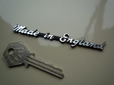 "Made in England Script Style Laser Cut Self Adhesive Bike Badge. 3.75""."