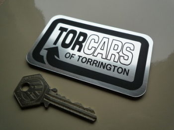 "Torcars of Torrington Laser Cut Self Adhesive Car Badge. 4""."
