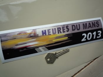 "24 Heures Du Mans 2013 LeMans Le Mans Oblong Sticker. 10""."