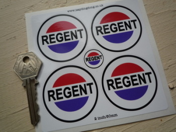 Regent Petroleum Round Stickers. Set of 4. 50mm.