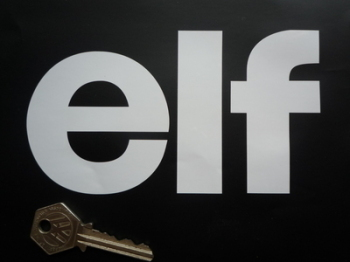 """Elf Cut Text Stickers. 4"""", 6"""" or 8"""" Pair."""