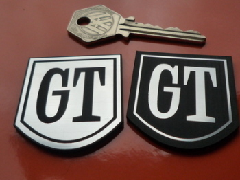 "Ford style GT Self Adhesive Car Badge. 1.5""."