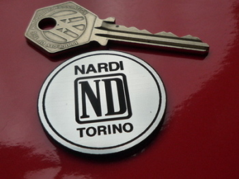 "Nardi Torino Circular Laser Cut Self Adhesive Car Badge. 1.5""."