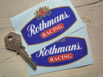 "Rothmans Red Racing with Gold Outline Stickers. 1.25"", 3"" or 4"" Pair."