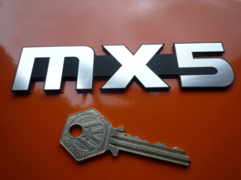 "Mazda MX-5 Laser Cut Self Adhesive Car Badge. 4"" or 5"""