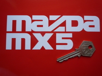 "Mazda MX5 Cut Vinyl Sticker. 6""."