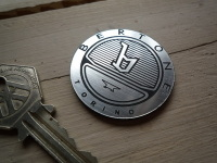 Bertone Torino Striped Circular Laser Cut Self Adhesive Car Badge. 1.5