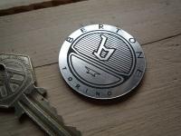 """Bertone Torino Striped Circular Laser Cut Self Adhesive Car Badge. 1.5""""."""