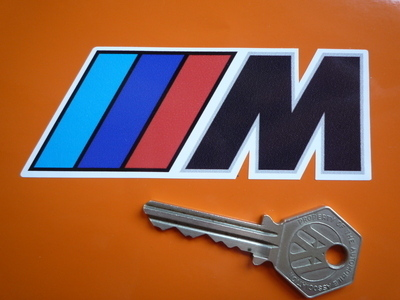 "BMW M Sport Shaped Stickers. 4"" or 8.5"" Pair."