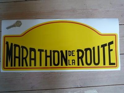 Marathon De La Route Rally Plate Sticker. 17
