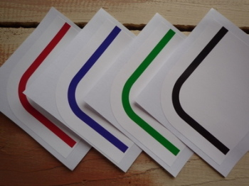 Racing Squariels Pin Stripe. Black, Blue, Green or Red. 380x600mm.