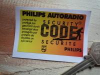 "Philips Autoradio Security Code Protected Window Sticker. 2.75""."