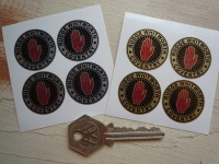 Rudge Whitworth Coventry Wire Wheel Black Detail Stickers. Set of 4. 28mm.