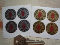 Rudge Whitworth Milano Wire Wheel Stickers. Set of 4. 25mm.