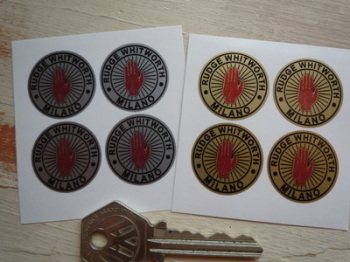 Rudge Whitworth Milano Wire Wheel Stickers. Set of 4. 25mm.