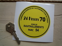 "LeMans 1970 Car Parking Permit Sticker From Le Mans Film. 3.5""."