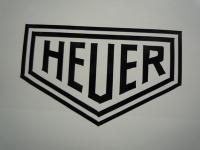 Heuer Plain Cut Vinyl Sticker. 8