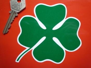 "Alfa Romeo Shaped Cloverleaf Stickers. 4"" or 6"" Pair."