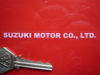 Suzuki Motor Co. Ltd. White & Clear Stickers. 3.75