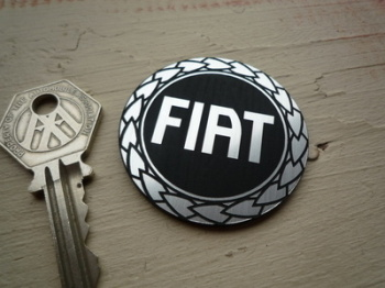 Fiat Garland Logo Style Self Adhesive Car Badge. Various Sizes.