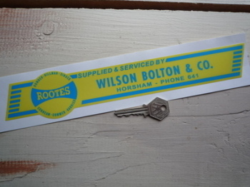 "Rootes Group Wilson Bolton & Co Dealer Window Sticker. 11""."