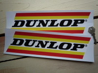 "Dunlop Wide Stripe Stickers. 11"" Pair."