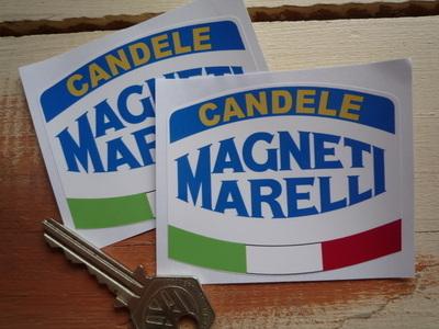 Magneti Marelli Candele Tri-Colour Stickers. 3