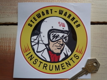 "Stewart-Warner Instruments Sticker. 5"" Pair."