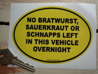 No Bratwurst Funny German Van/Car Sticker. 5