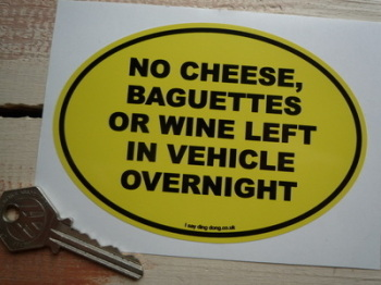 "No Baguettes Funny French Van/Car Sticker. 5""."