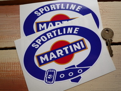 Martini Sportline. Belted Logo Stickers. 4