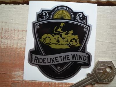 "Ride Like The Wind Tattoo Style Sticker. 3""."